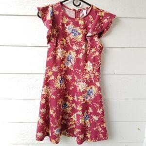 Zip back floral dress